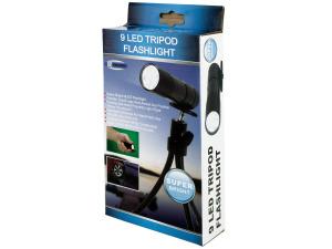 9 LED Tripod Flashlight