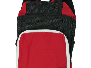 Black & Red Backpack with Pockets