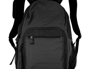 Black & Dotted Backpack with Pockets