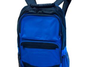 Large Royal Blue & Black Backpack with Pockets