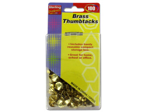 Brass thumbtacks