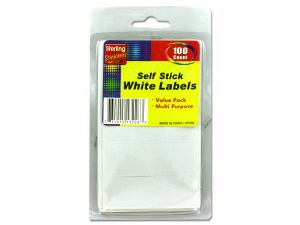 100 Pack self-adhesive white labels