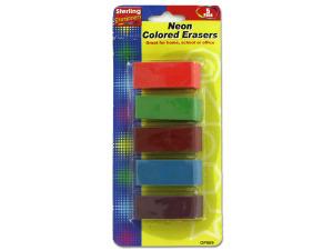 Neon erasers
