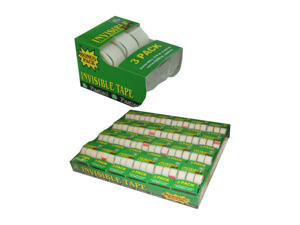 Wholesale: 3-pack invisible tape with dispensers