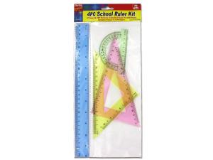 School ruler kit