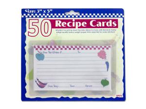 Recipe card set