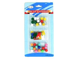 Wholesale: Push pin assortment, 3 styles