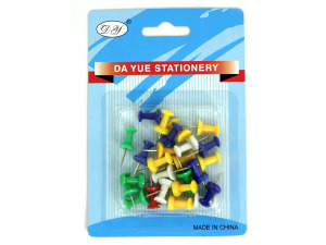 Wholesale: Push pins ast clr 3062
