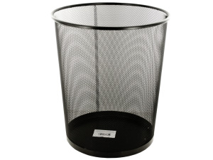 Wholesale: Black Metal Mesh Waste Container