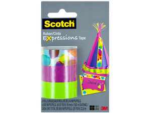 Wholesale: Scotch Expressions Watercolor Lime & Pink Tape Set