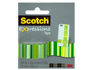 Wholesale: Scotch Expressions Green Stripes Tape
