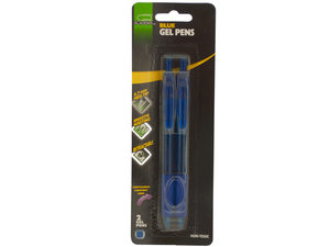 Wholesale: Retractable Blue Gel Pens with Comfort Grips