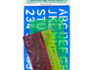 Wholesale: Number & Letter Stencils Set
