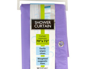 Shower Curtain with Weighted Magnetic Hem