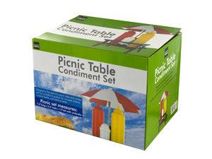 Wholesale: Picnic Table Condiment Holder Set