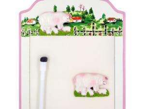 Wholesale: Pigs Magnetic Memo Board & Keys Holder