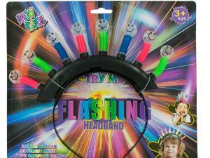 Wholesale: Flashing Happy Face Headband