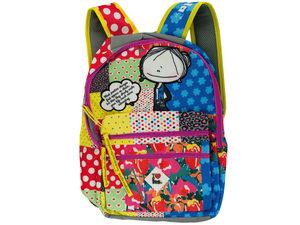 Hablando Sola Pink Patchwork Backpack