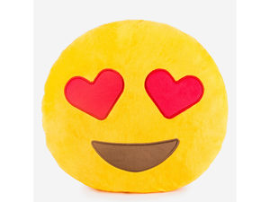 Emoticon Heart Eyes Plush Pillow
