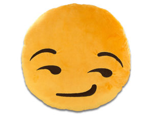 Emoticon Smirk Face Plush Pillow