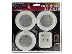 Wholesale: Remote Control Multi-Function LED Light Set