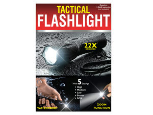 Waterproof Tactical Zoom Flashlight with 5 Settings