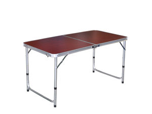 Cherry Wood Look Folding Camping Table