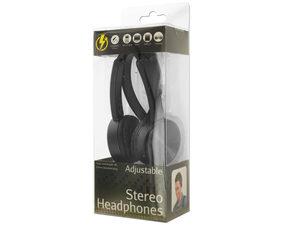 Black Adjustable Stereo Headphones