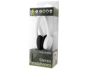 White Adjustable Stereo Headphones