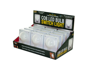 Wholesale: COB LED Bulb Switch Light Countertop Display