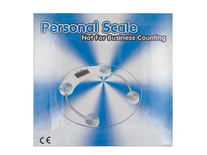 Round Glass Digital Bathroom Scale