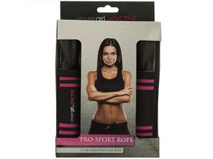 Cover Girl Active Pink & Black Pro-Sport Jump Rope