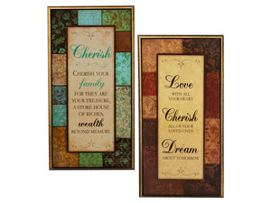Wholesale: Decorative Pop-Up Wall Art with Inspirational Sayings