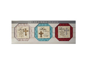 Wholesale: Religious Themed Printed Canvas Wall Art Set