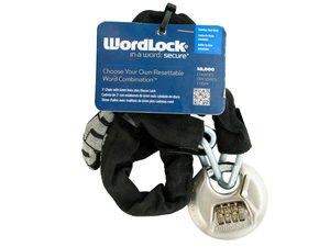 WordLock Shielded Stainless Steel Discus Bike Lock