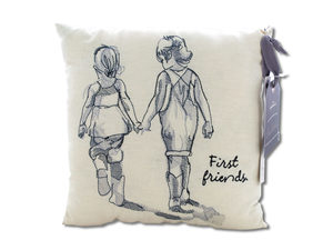 First Friends Embroidered Accent Pillow