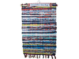 Multi-Color Narrow Striped Chindi Rug