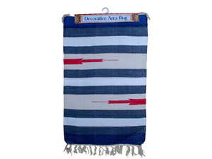 Multi-Colored Wide Striped Cotton Rug