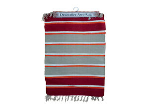 Multi Striped Cotton Woven Rug
