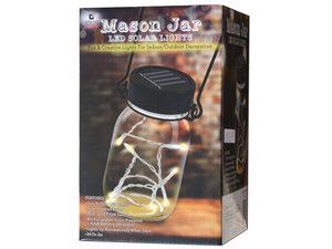 Wholesale: Mason Jar with LED Solar Lights