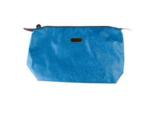 Wholesale: Medium Sky Blue Metallic Cosmetic Bag