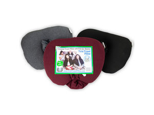 Wholesale: Personal Travel Pillow with Pull Out Hood Assorted Colors