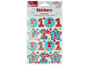 Wholesale: 1st Birthday Stickers