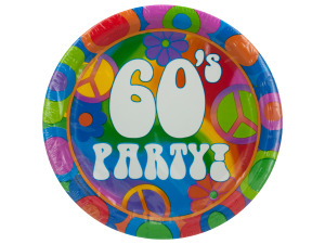 Wholesale: 8 pack 60s theme plates