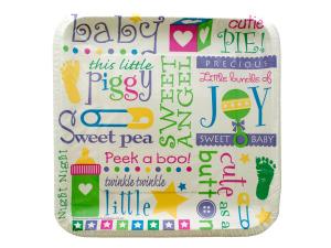 Wholesale: 12pk 9 1/8 inch bundle of joy plates