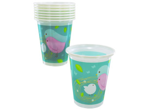Wholesale: 8 count 16oz baby plastic cups