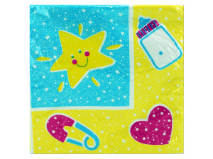 Wholesale: 16ct baby toys bev napkin