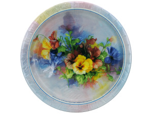 Wholesale: 8 count 7 inch pansies plates