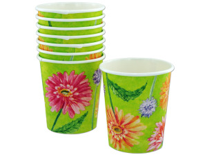 Wholesale: 8ct 7oz daisies cups