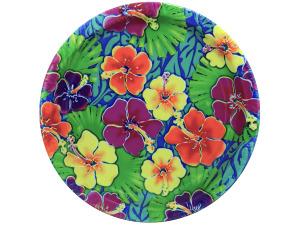 Wholesale: 8 pack Luau floral paper plates
